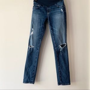 • ag • maternity jeans distressed skinny 29